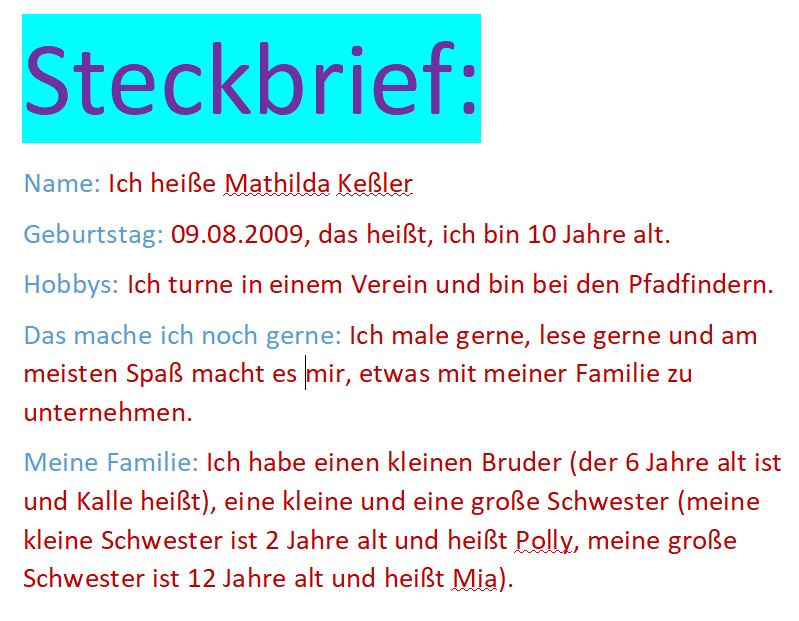 Mathilda Steckbrief